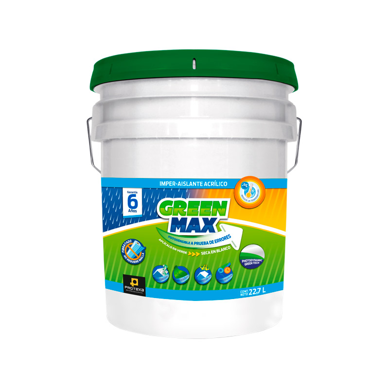 impermeabilizante acrílico green max protexa 22.7 lts