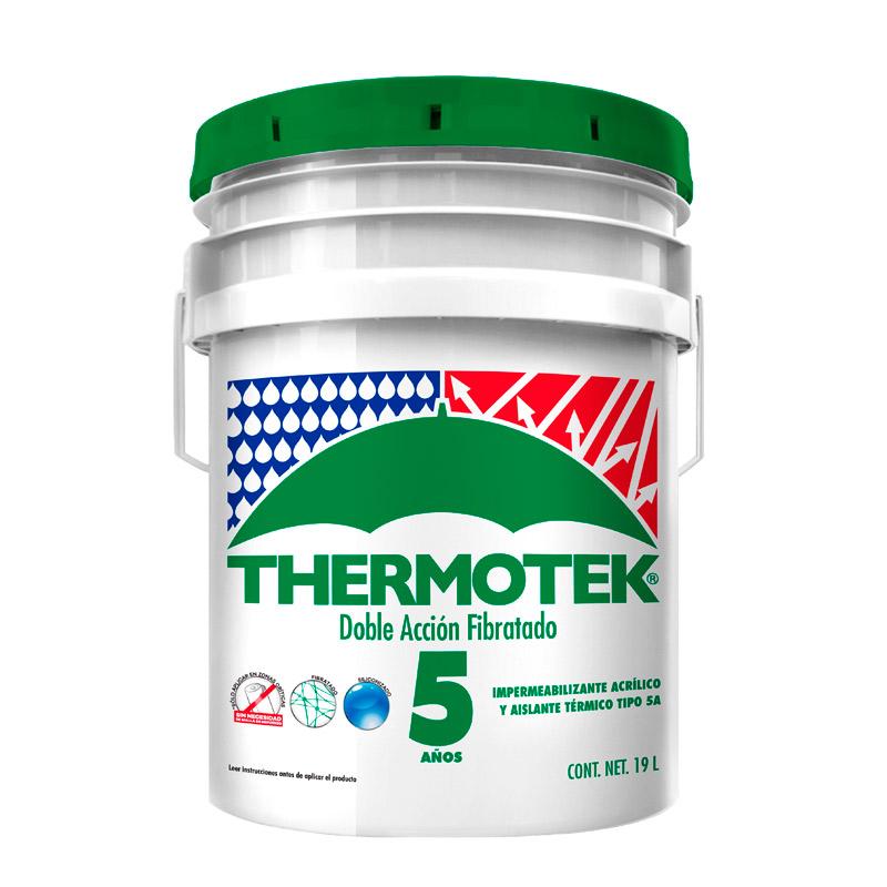 impermeabilizante acrilico fibratado thermotek 5 años 19 litros
