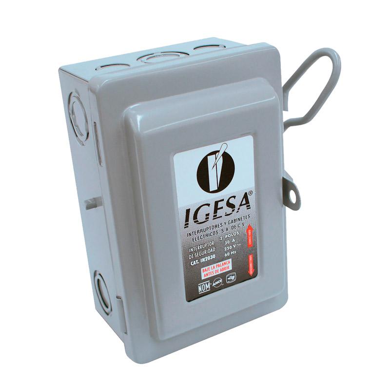 Interruptor de seguridad 2 polos Igesa Mod IN2030