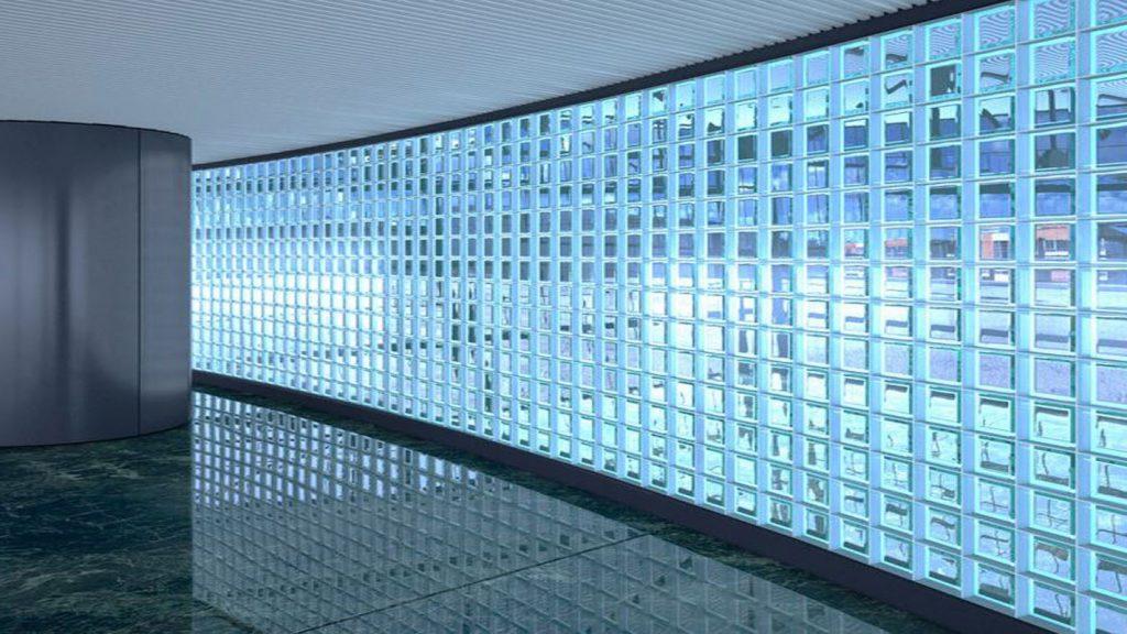 pared de vidrio block