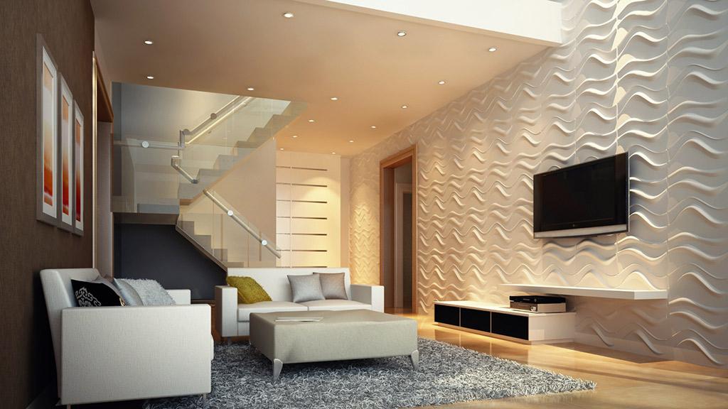 paredes decoradas con texturas