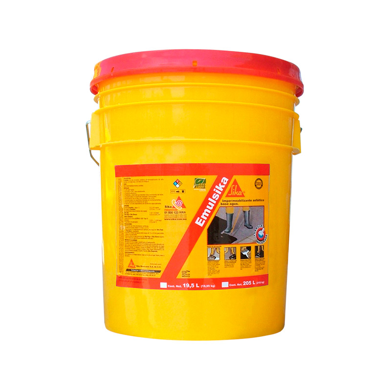sellador asfaltico negro base agua emulsika primer sika 19 lts