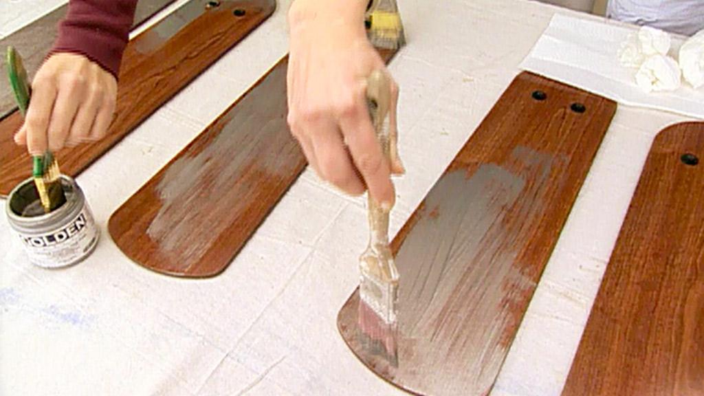 como pintar un abanico de techo