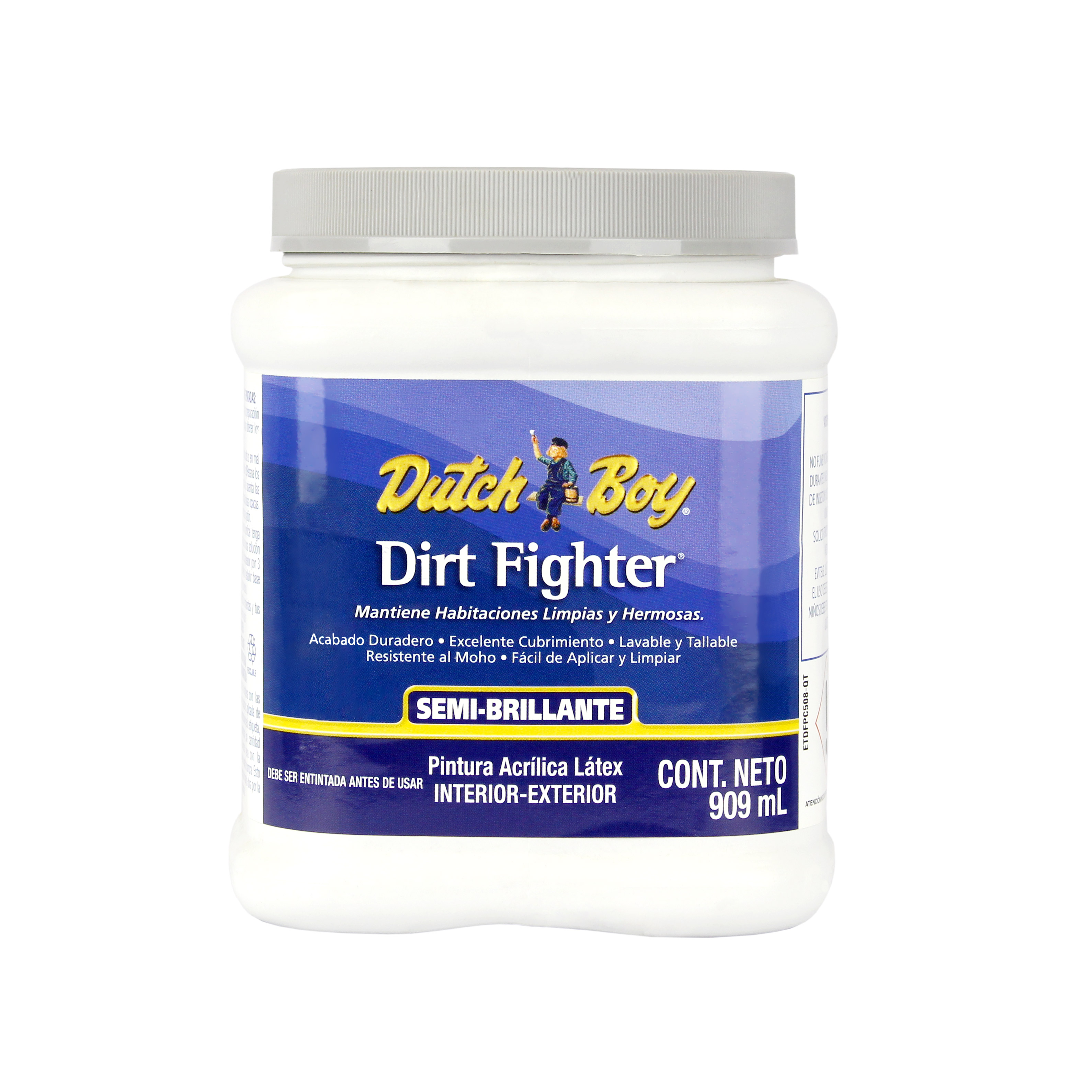 pintura acrilica semi brillante dirt fighter dutch boy 1 lt