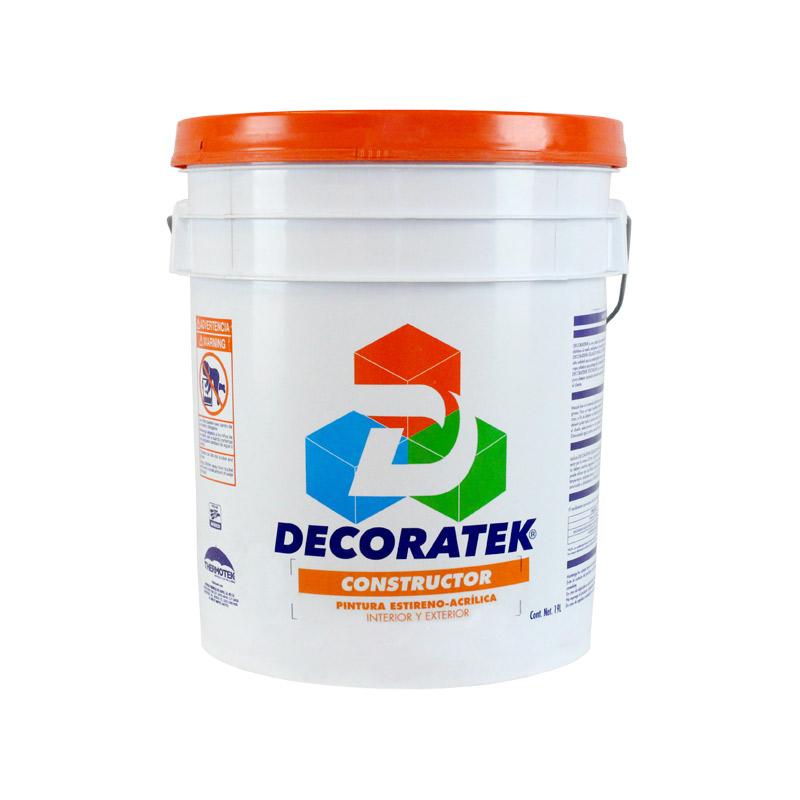 pintura vinil acrilica decoratek constructor 19 lts