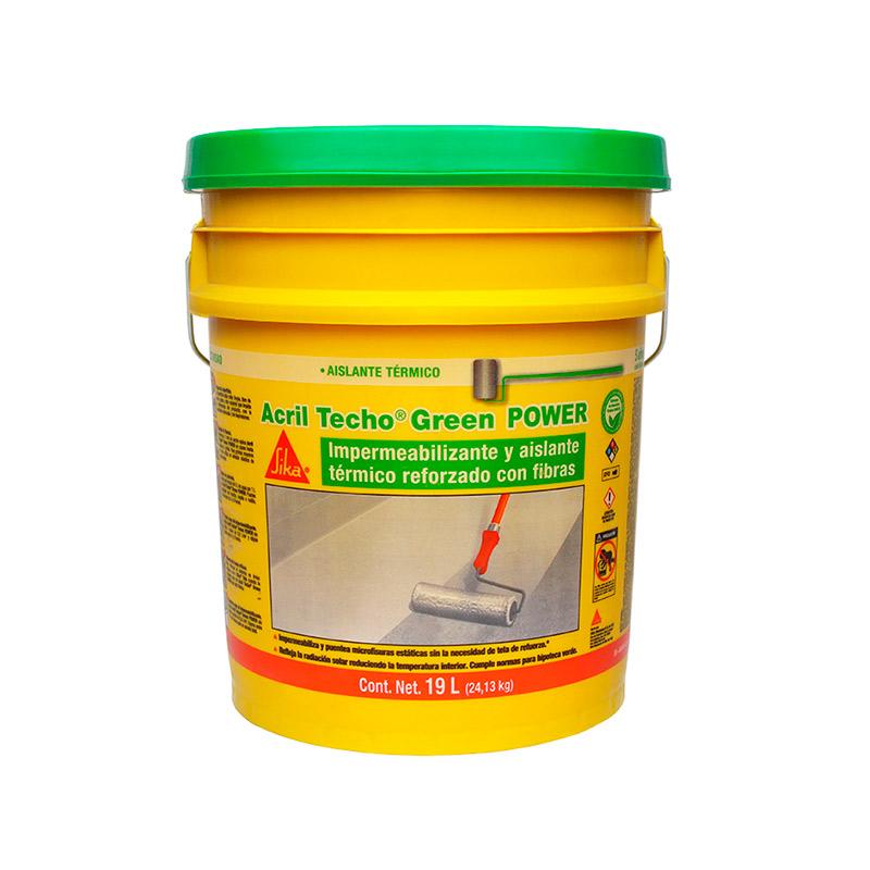 impermeabilizante fibratado acril techo green power blanco 5 años 19 lts.