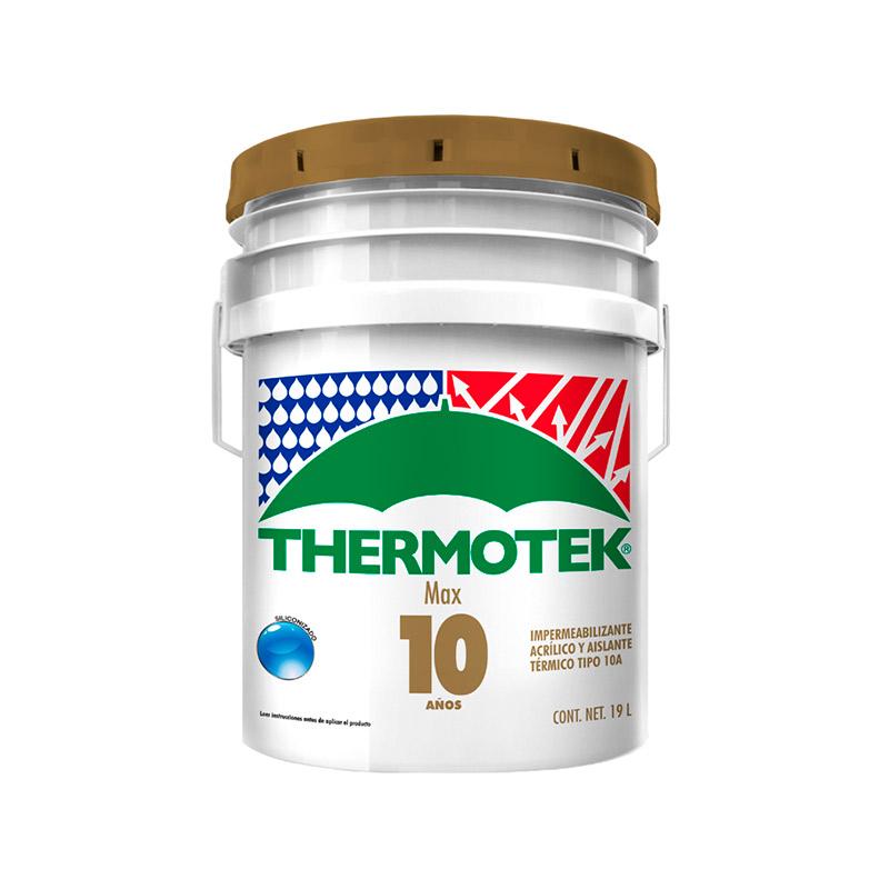 impermeabilizante para techo thermotek max 10 blanco 19 lts