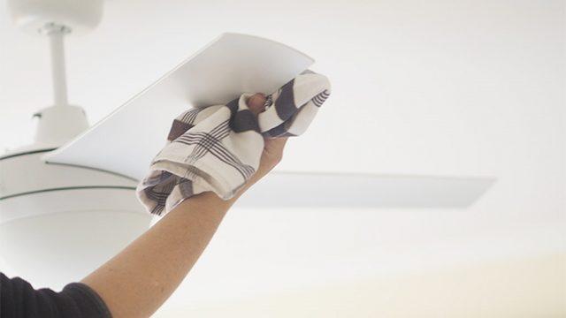 limpiar aspas de abanico de techo