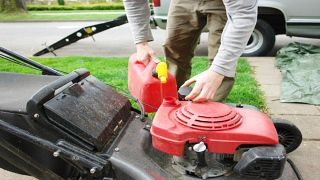 cambiar aceite de motor podadora