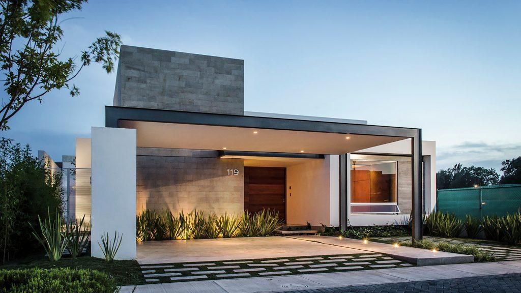 Fachada casa moderna