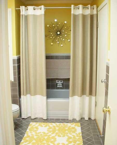 cortina-para-bano-estilo-amarillo