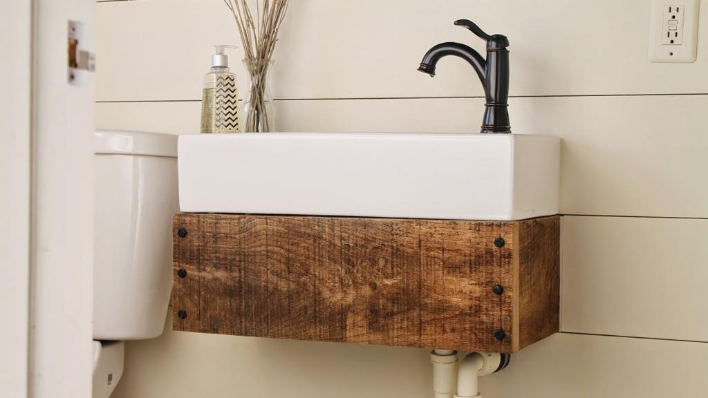 inspiracion en lavabos flotantes