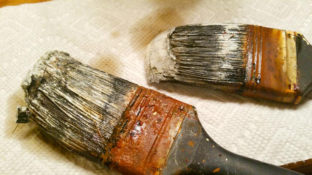 limpiar brochas viejas