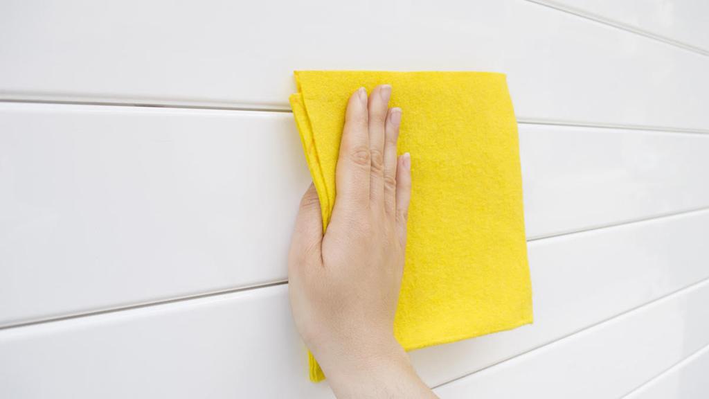 limpiar puerta de lamina