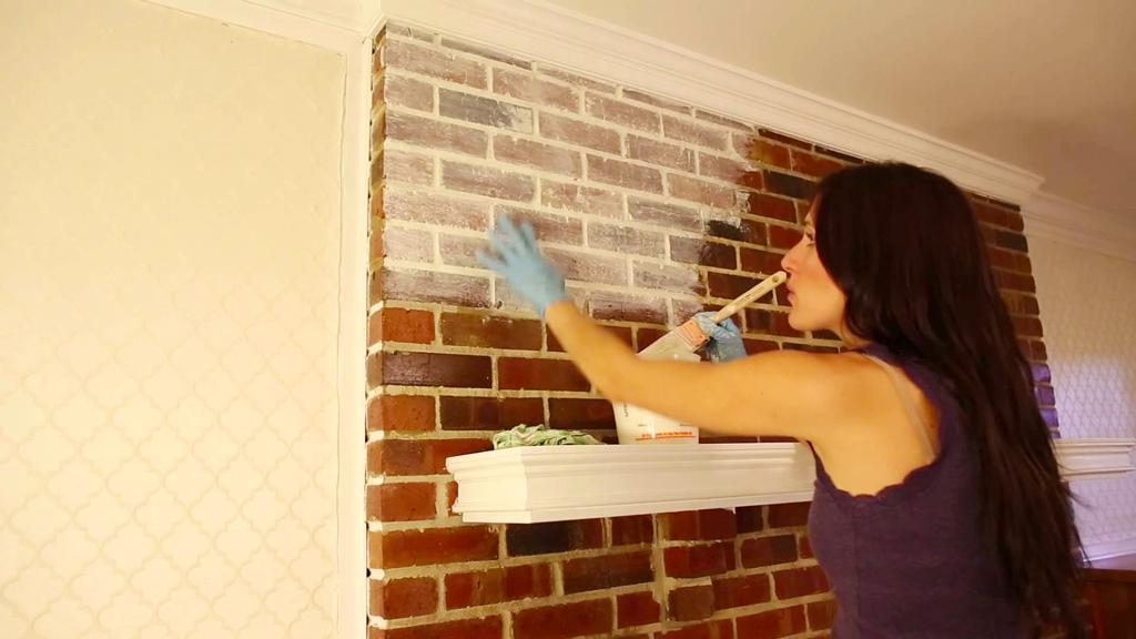 pintar pared de ladrillos