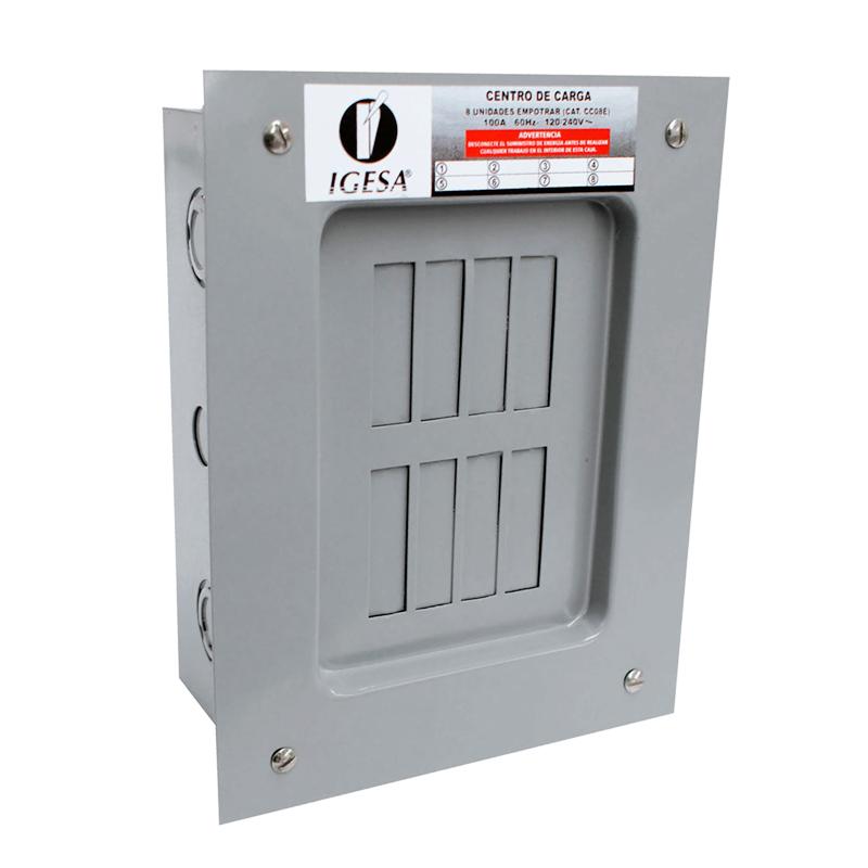 Centro carga 8 circuitos empotrar marca Igesa