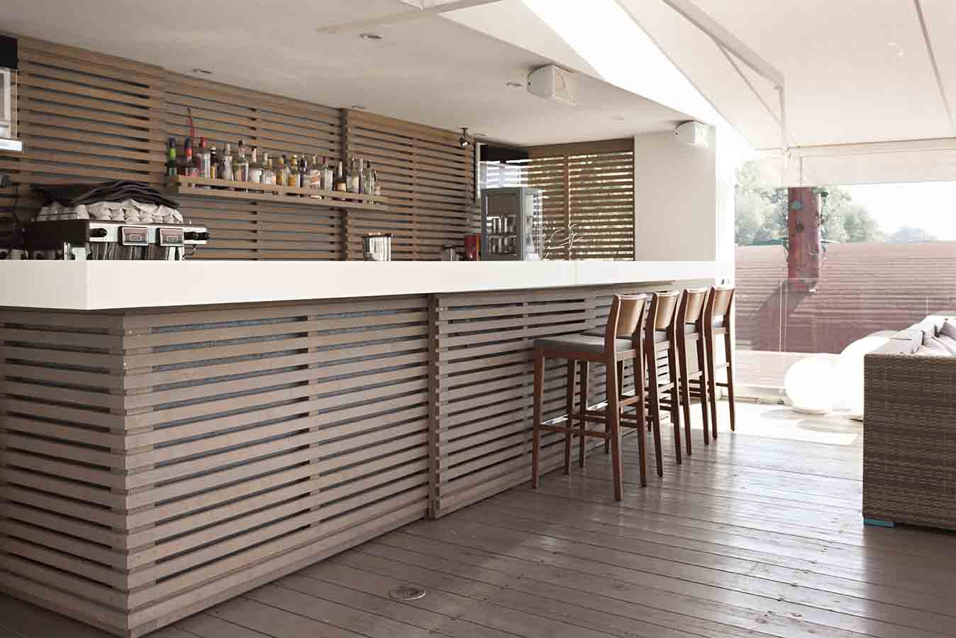 Luzca una terraza con estilo