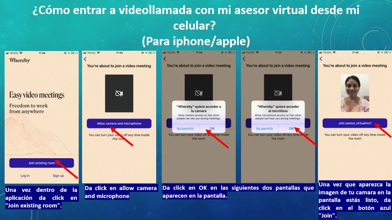 Cómo entrar a videollamada con mi asesor virtual desde mi celular en apple 2