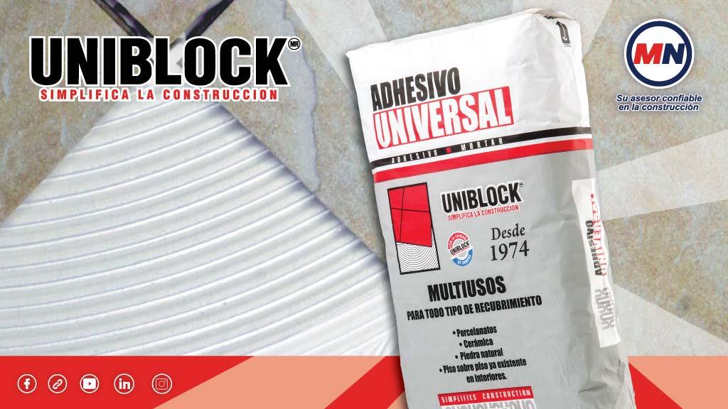 Cómo aplicar adhesivo universal Uniblock