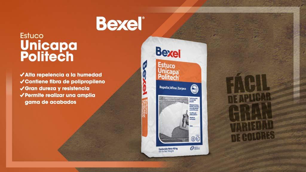 Usos y ventajas del Estuco Unicapa Politech de Bexel