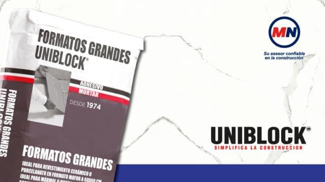 Conoces los usos y beneficios del adhesivo para formatos grandes de Uniblock