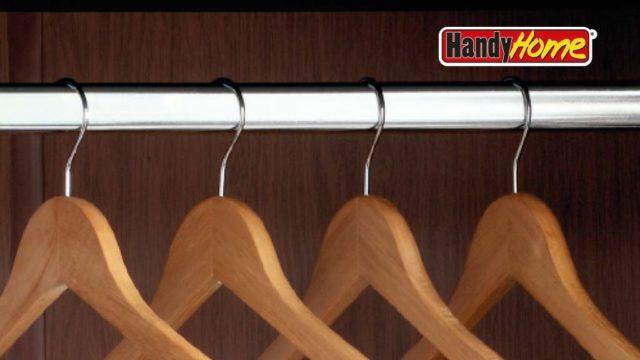 Como instalar un tubo circular handy home para closet