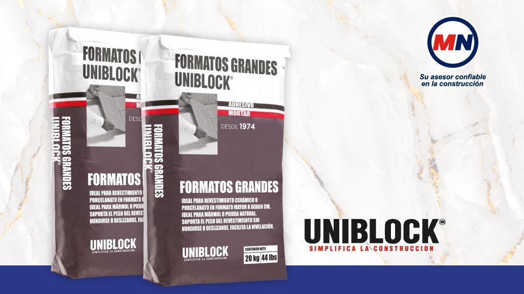 Como aplicar el adhesivo grandes formatos Uniblock