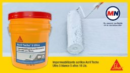 Sabes como aplicar impermeabilizante Sika® Acril Techo® 5 Ultra